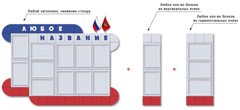 Стенды пластиковые сборно-разборные конструктор