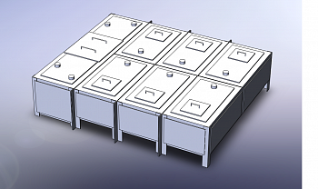Бак фекальный МСБ-1/2 (секция приемная - 1шт., секция торцевая - 1 шт., секция рядовая - 2шт.) Серия