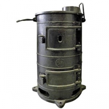 Печь Буржуйка чугунная круглая ПОВ-57