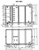 Бак для воды прямоугольный БВ-8 Серия 07.900-2