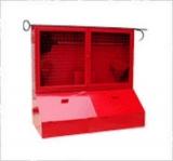 Стенд пожарный металлические закрытого типа с ящиками для песка