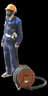 Противогаз шланговый ПШ-1Б (с маской ШМП – 2 шт.) на барабане