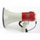MG-220 REC/red ручной мегафон 25Вт, тангента, сирена, запись/воспроизведение 20 сек, разъем 12В