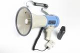 MG-66SUL/blue ручной мегафон 25Вт, микрофон-тангента, сирена, MP3 плеер (USB\SD) Li аккумулятор