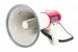 MG-66USB/red ручной мегафон 25Вт, микрофон-тангента, сирена, MP3 плеер USB\SD, разъем 12В