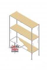 Комплект 1 сторонний, 3-х уровневый (крепление в пол без подголовников)