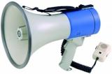 """ER66 - Мегафон ручной 25 Вт, выносной микрофон, 12В, 8 батарей тип """"С"""", вес 1,65 кг, пластик"""