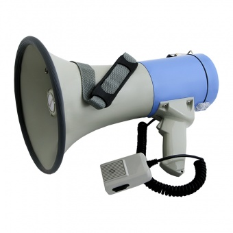 ER668 - электромегафон 25Вт c Li аккумулятором (три сигнала сирены, запись, USB/SD/AUX/Bluetooth)