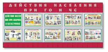 "Стенд и плакаты ""Действия населения при ЧС"""