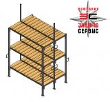 Нары двухсторонние, 3-х ярусные (крепление в потолок без подголовников) зависит от высоты потолка